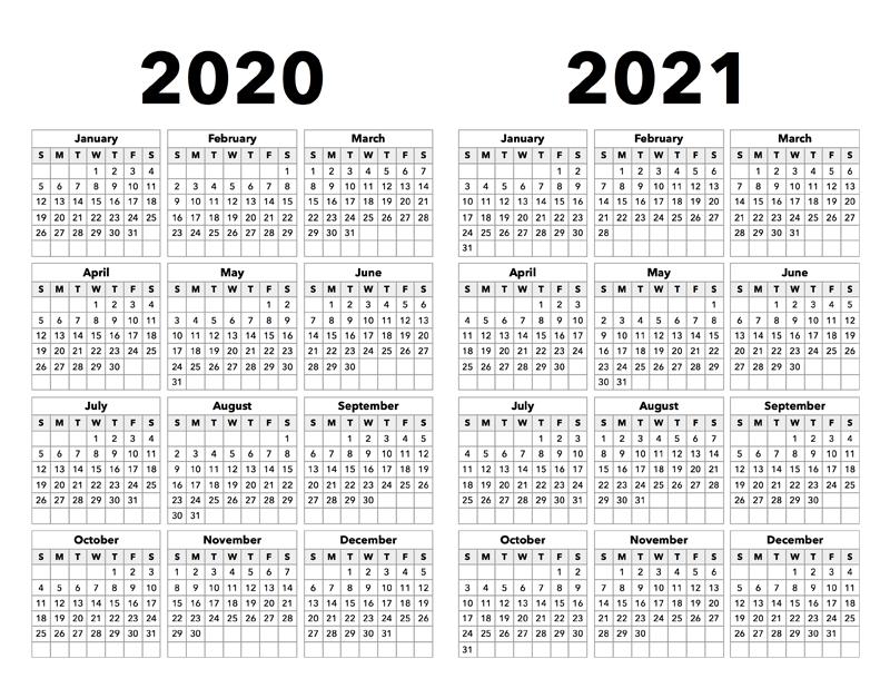 2020-2021 Calendar - Calendar Options