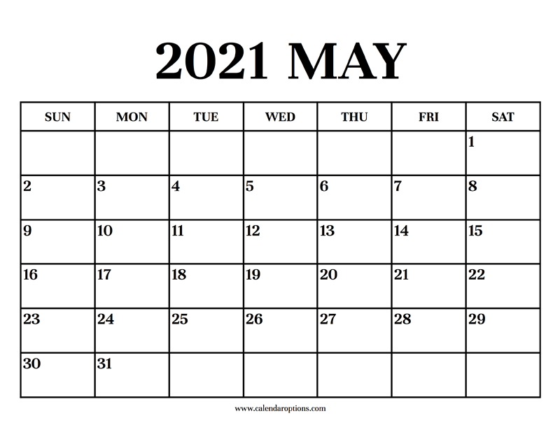 Calendar 2021 May - Calendar Options