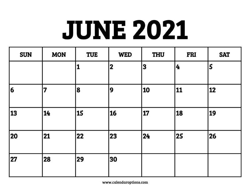 June 2021 Calendar Printable - Calendar Options