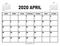 Calendar 2020 April – Calendar Options