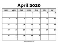 April 2020 Calendar Printable – Calendar Options